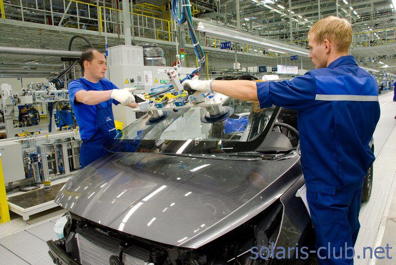 Вклейка лобового стекла Hyundai Solaris