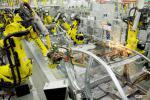 Роботы в цехе Сварки Hyundai Solaris